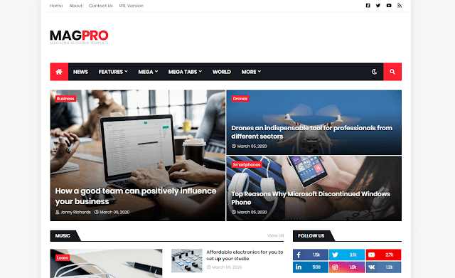 MagPro Blogger Template Free Download [Paid Version]