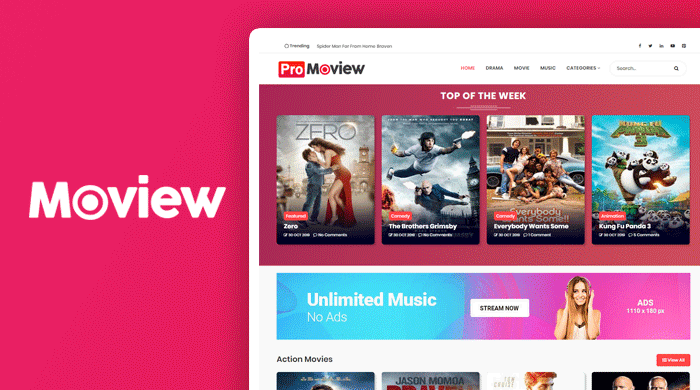 [BEST] Moview Blogger Template (FREE DOWNLOAD) Premium version
