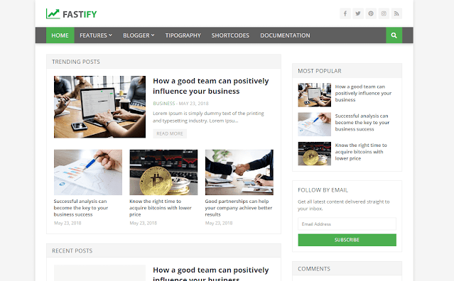[Paid] Fastify - Responsive Blogger Template Free Download