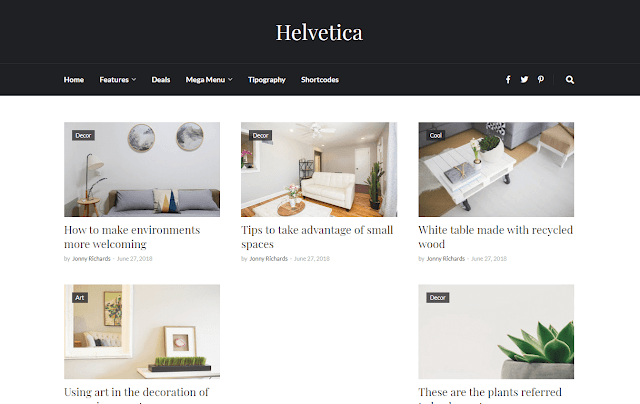 [Paid] Helvetica Clean Blogger Template Free Download