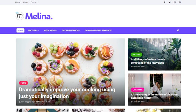 Melina Blogger Template Download [100% FREE]