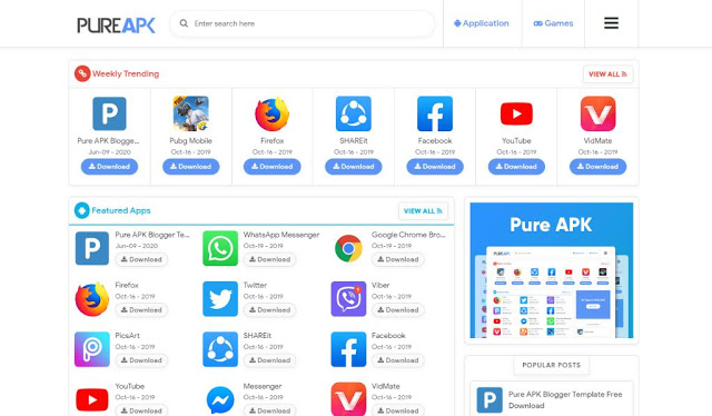 You can create Applications Downloading and apps review websites by using this Template.