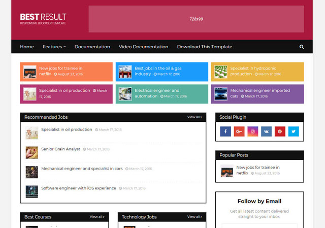 [Paid] Best Result Blogger Template Download
