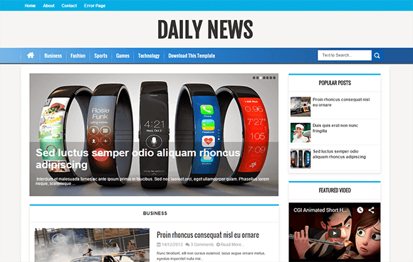 [paid] Daily News Blogger Template Download