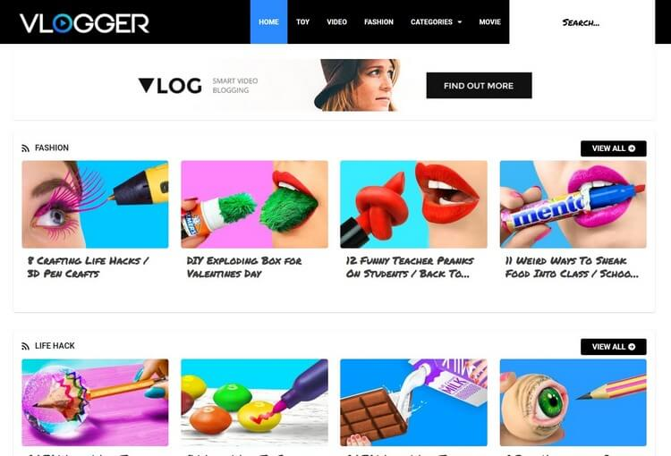 [Paid] Vlogger Blogger Template Download For Free
