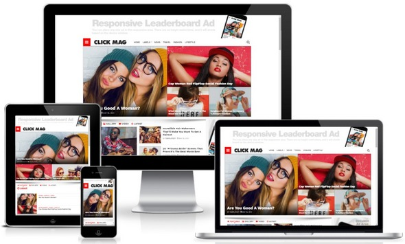 [Paid] ClickMag Blogger Template Free Download 2021