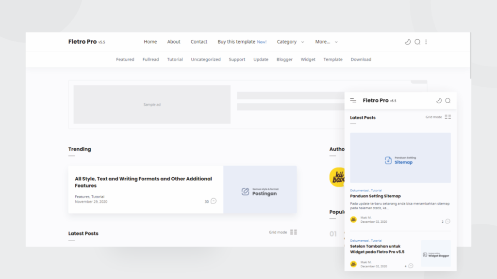 [Paid] Fletro Pro All-Bundle Blogger Template Free Download