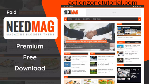 [Paid] Need Mag Premium Blogger Template Free Download