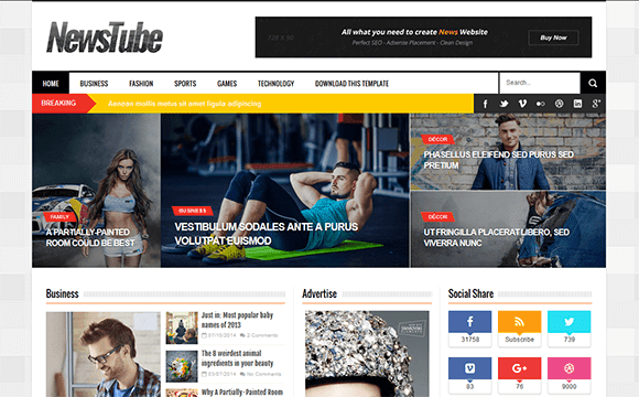 [Paid] NewsTube Blogger Template Download