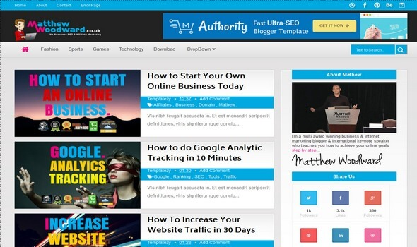 Authority: Blogger Template Download