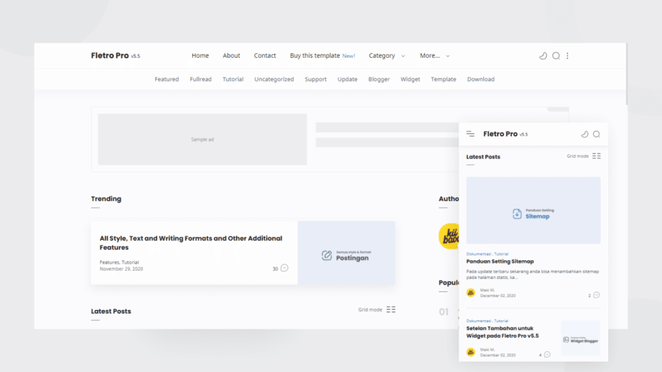[Paid] Fletro Pro v6.0 Blogger Template Download