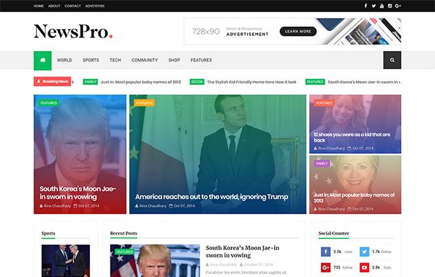 [Paid] NewsPro Blogger Template Download Free