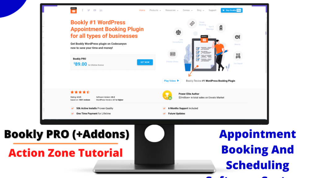 Bookly PRO (+Addons) – Appointment Booking And Scheduling Software Systems
